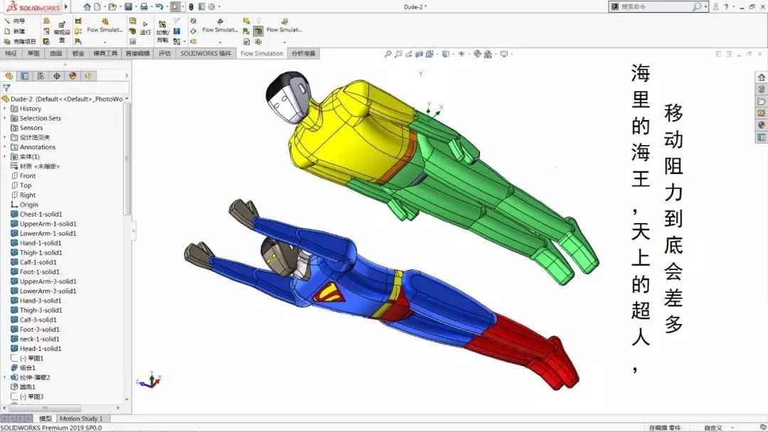 海王和超人,移动时的阻力到底谁大?SolidWorks告诉你答案!