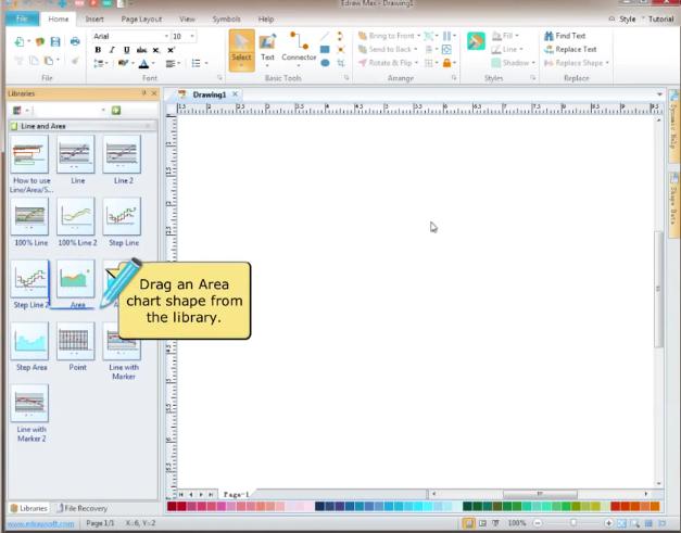 【Edraw Max视频教程】如何创建区域图