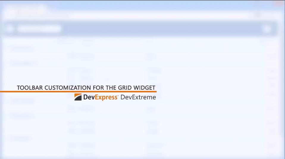 DevExtreme教学视频:自定义HTML5 DataGrid工具栏