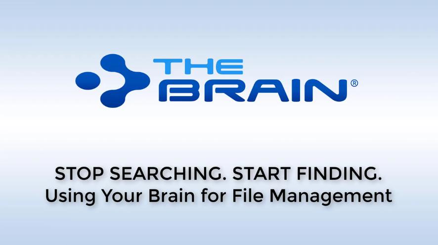 TheBrain网络研讨会:使用TheBrain如何更加直观的管理文件