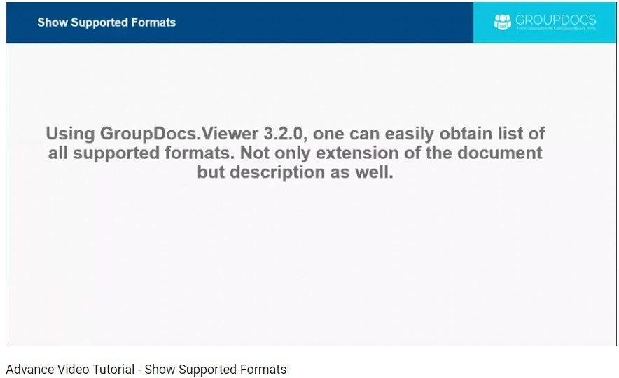 GroupDocs.Viewer教程:GroupDocs.Viewer支持的格式