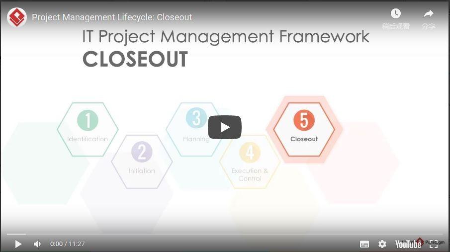 Visual Paradigm项目管理生命周期:结尾工作