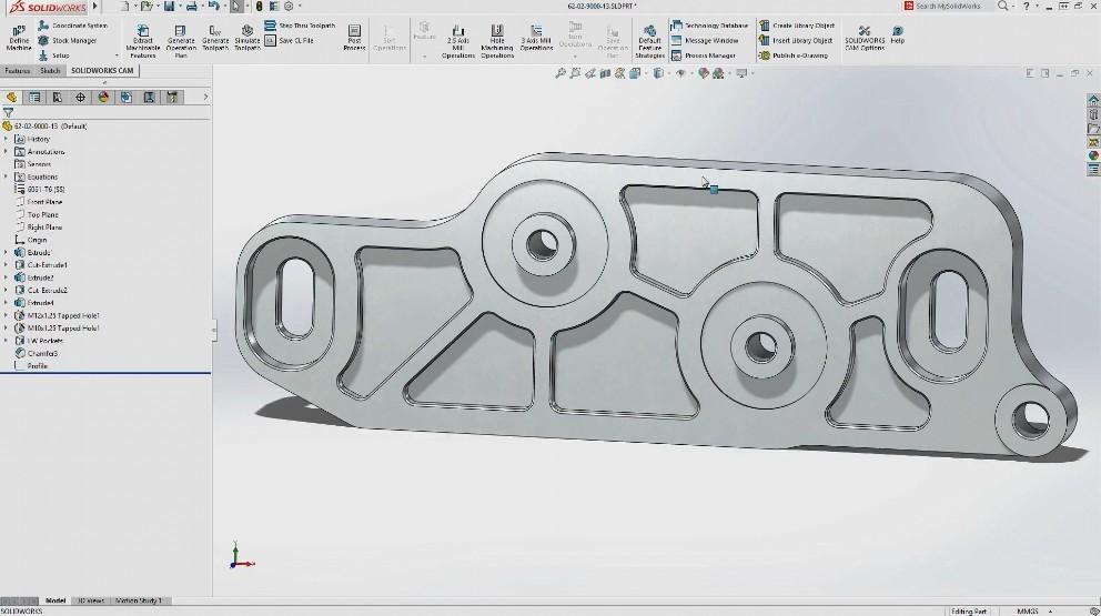 第一次体验SolidWorks CAM!