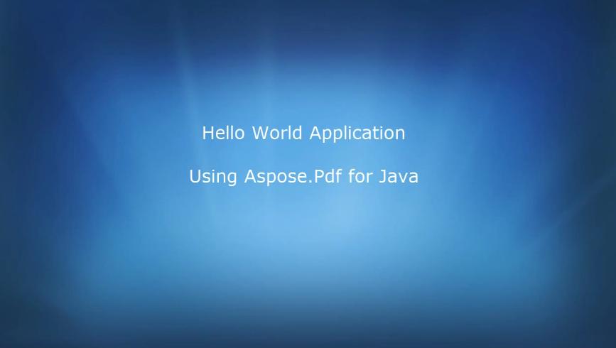 Aspose.PDF for JAVA视频教程:如何引用添加到一个新项目