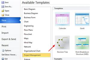 快速制图工具Edraw Max使用教程:创建决策树