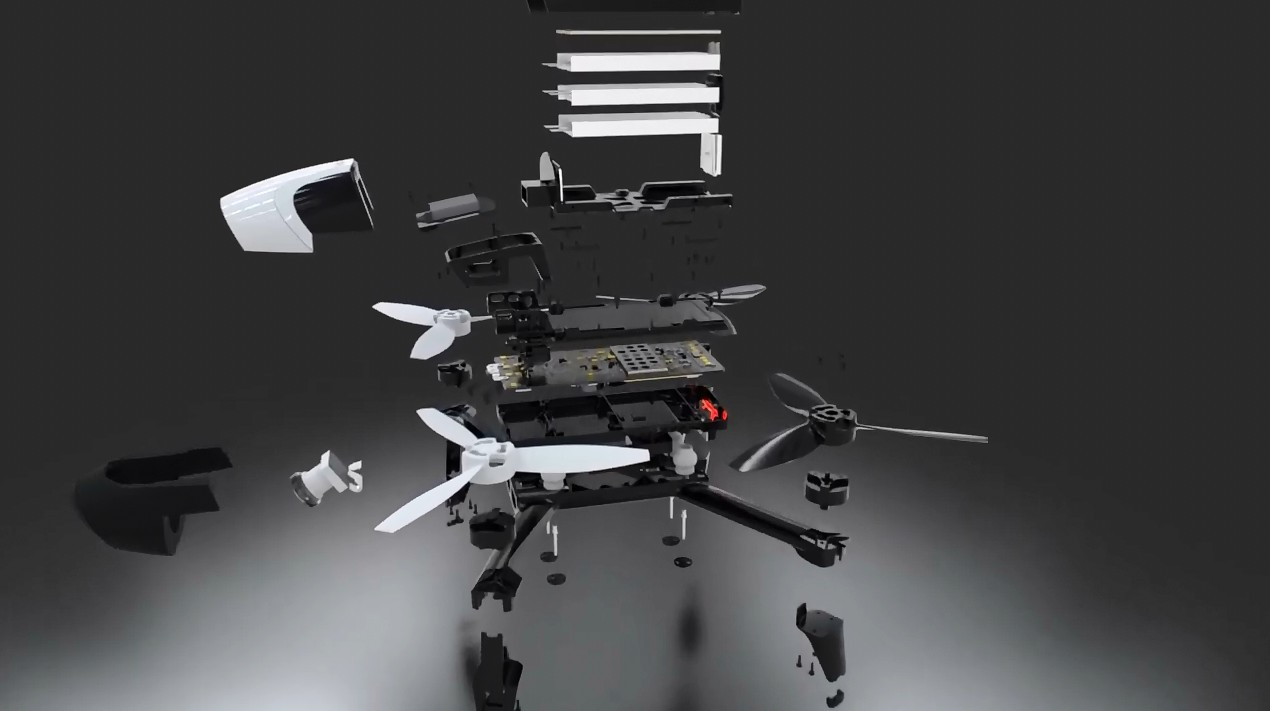 SolidWorks Visualize:Parrot Bebop 2无人机爆炸视图动画