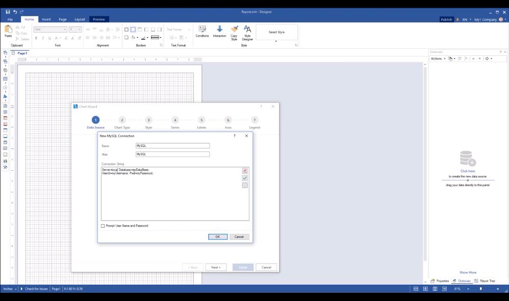 Stimulsoft报表工具:使用向导创建图表