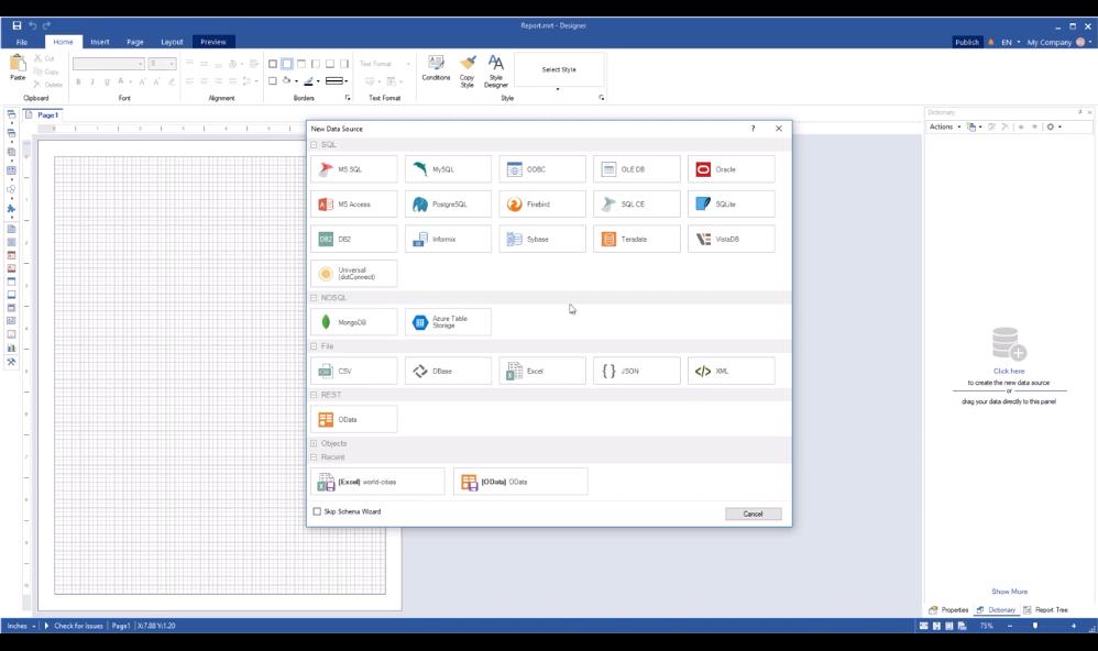Stimulsoft WinForms报表工具:创建OData数据源并在查询中使用过滤器