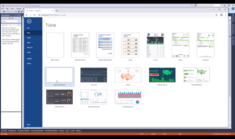 Stimulsoft ASP.NET仪表板:连接MySQL存储并在仪表板上使用它