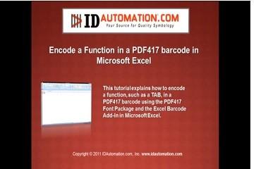IDAutomation Excel中的条形码字体(十):如何在PDF417条形码中编码制表符或FNC?