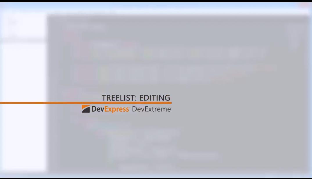 DevExtreme视频教程:使用HTML5 TreeList进行编辑