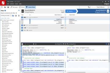 SQL Compare教程:工作示例——比较和部署两个数据库(下)
