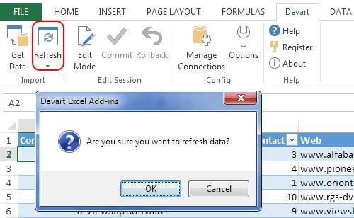 Excel Add-in预览:无论何时何时需要即时刷新数据