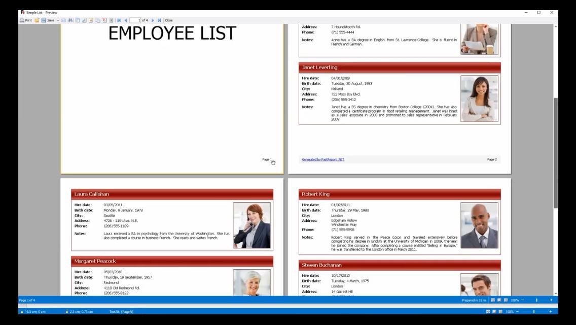 FastReport .NET演示:给报表添加水印和封面