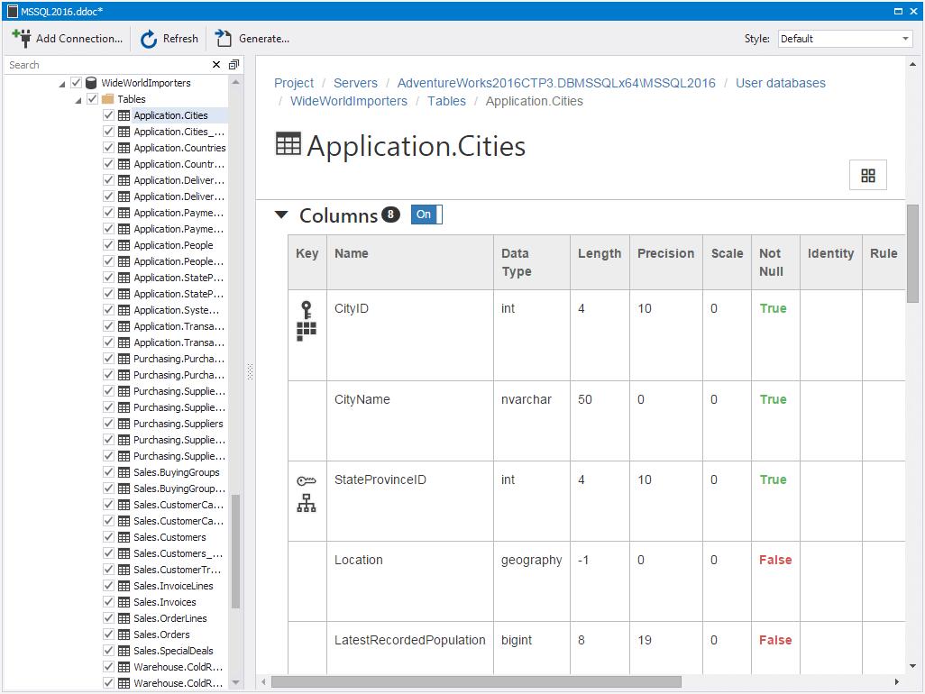 dbForge Documenter for SQL Server预览:dbForge Documenter for SQL Server界面
