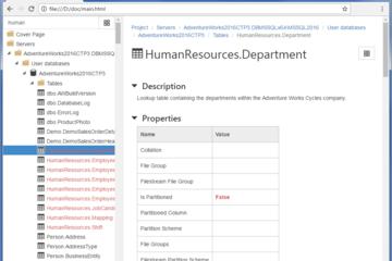 dbForge Documenter for SQL Server预览:可搜索的文档
