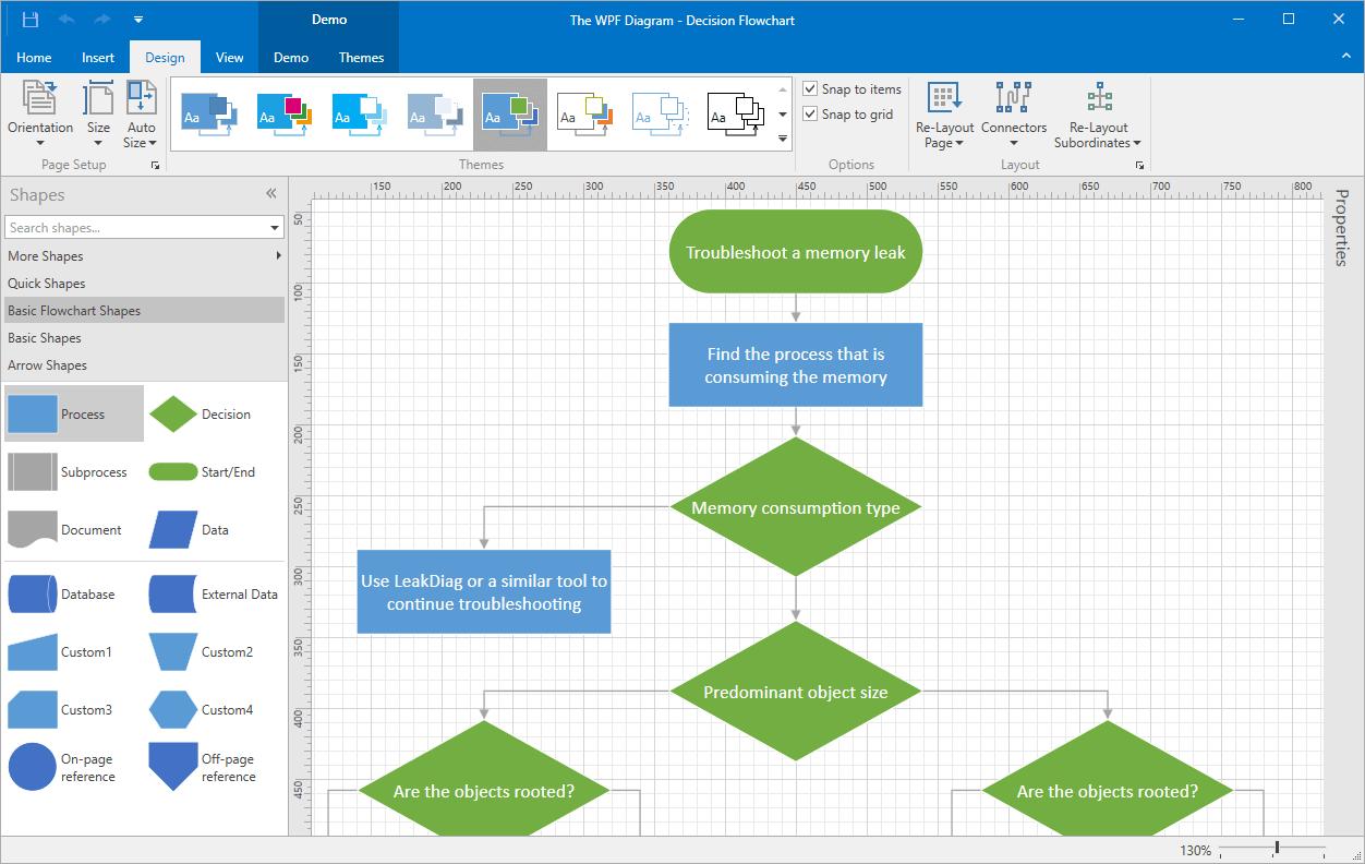 DevExpress WPF Subscription预览:wpf diagram desktop hd