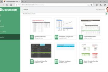DevExpress Universal Subscription预览:web-file-management-app