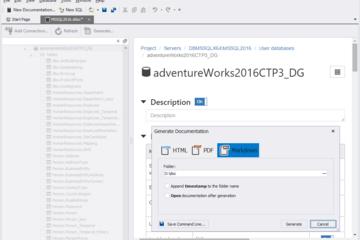 dbForge Documenter for SQL Server预览:支持的格式