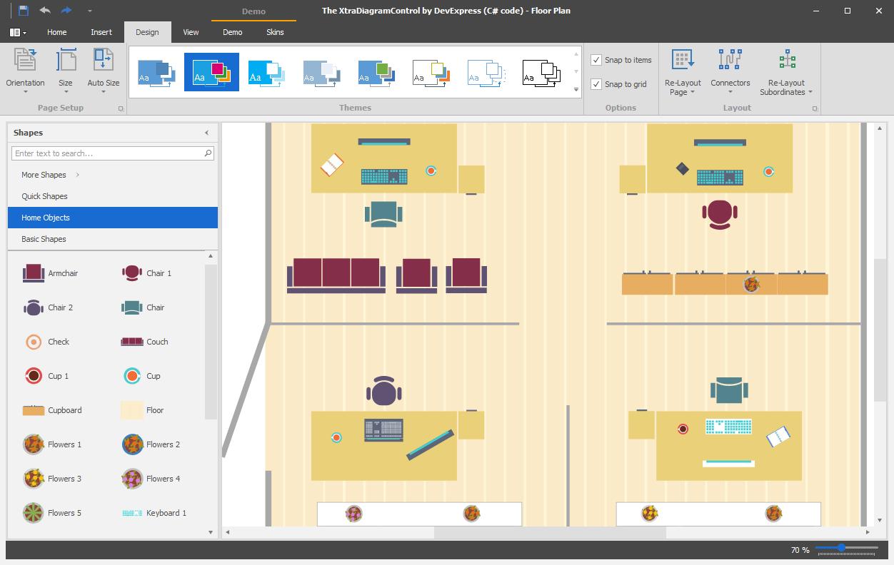 DevExpress Winforms Controls预览:WinForms Diagram Control桌面