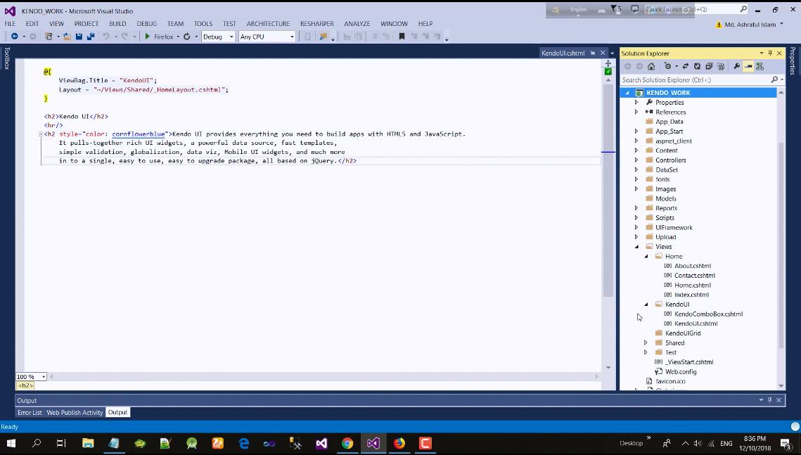 Kendo UI视频教程:ASP.Net MVC Kendo UI
