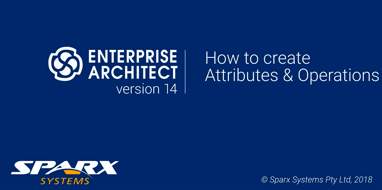 Enterprise Architect视频教程:创建属性和操作