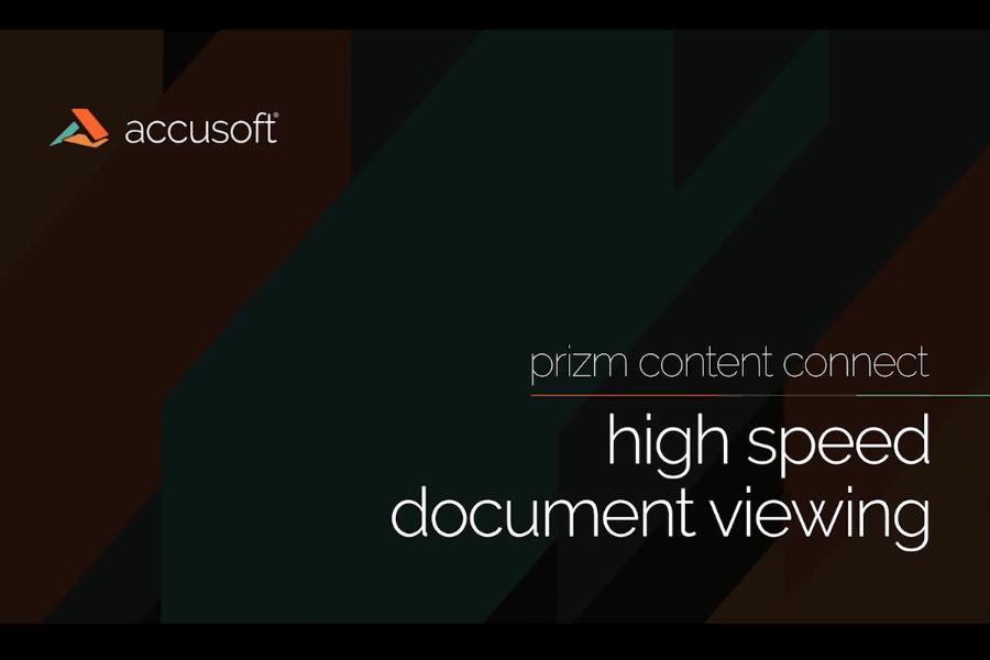 PrizmDoc视频教程:使用PrizmDoc进行高速文档查看