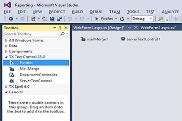 TX Text Control系列教程— ASP.NET :报告教程