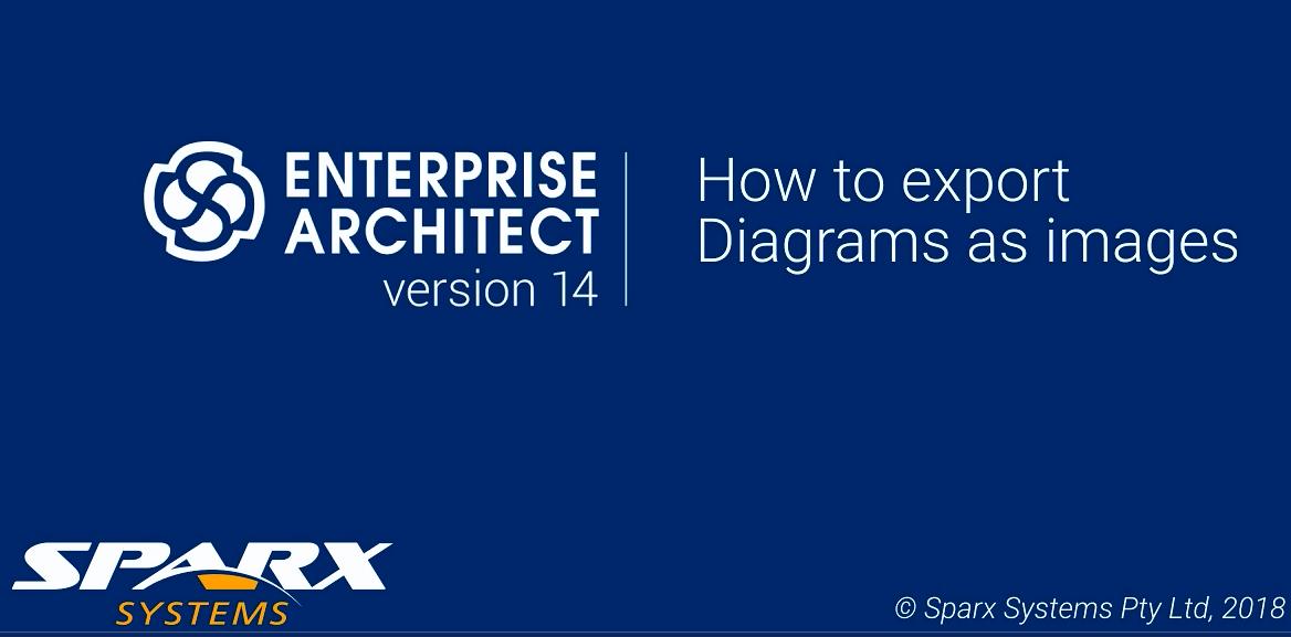 Enterprise Architect视频教程:将图表导出为图像