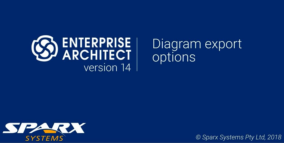 Enterprise Architect视频教程:图表导出选项