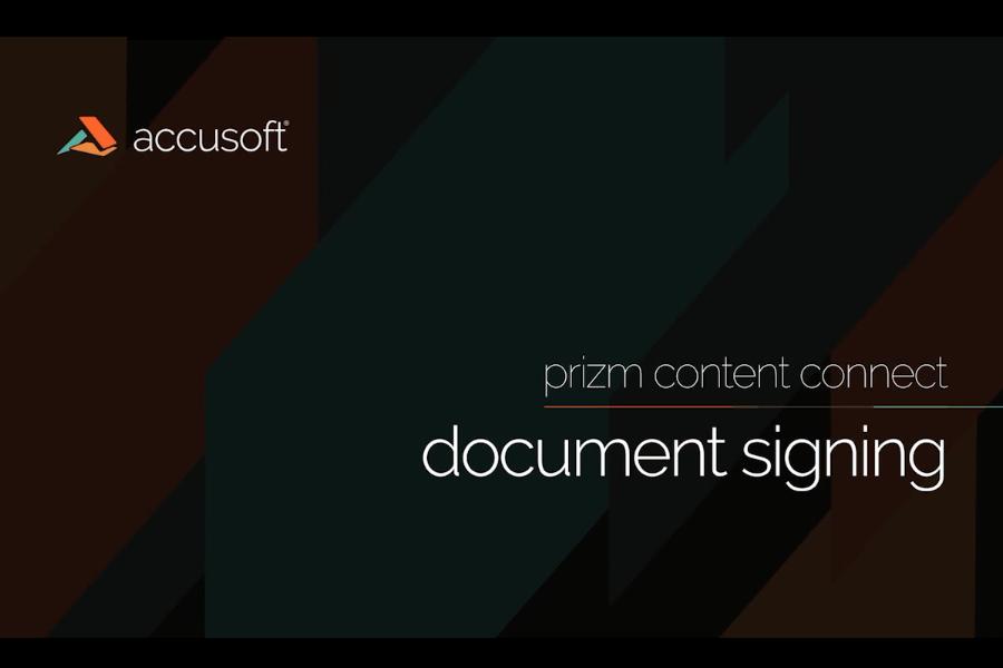 PrizmDoc视频教程:PrizmDoc进行文件签名