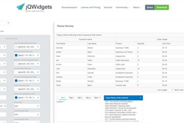UI组件库jQWidgets发布全新主题生成器,两种模式随你切换