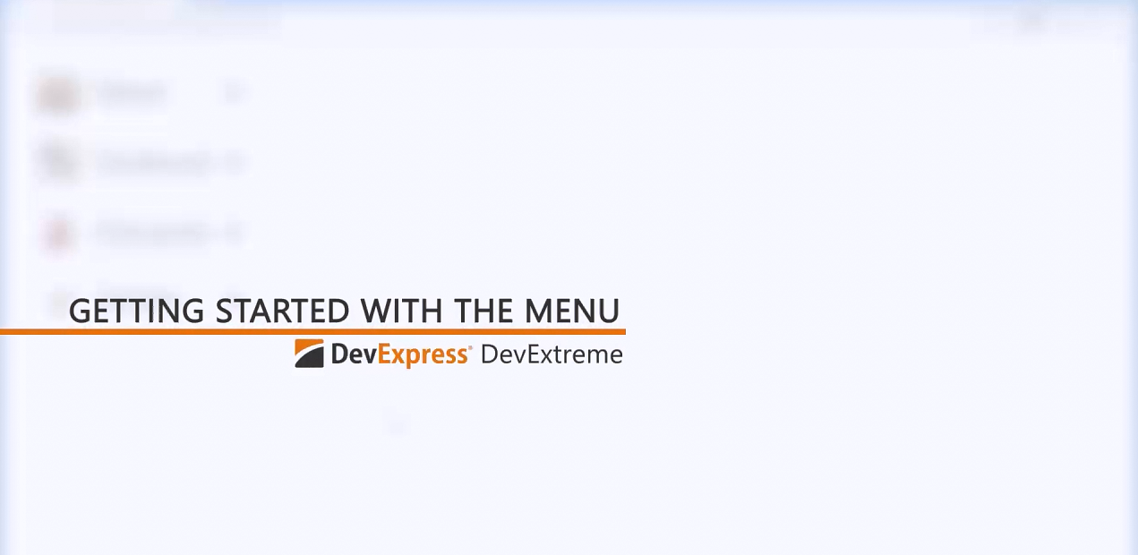 DevExtreme视频教程:HTML5 Menu入门指南