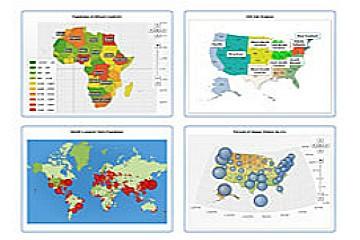 AnyMap地图一般功能演示:与十字准线和网格的世界地图