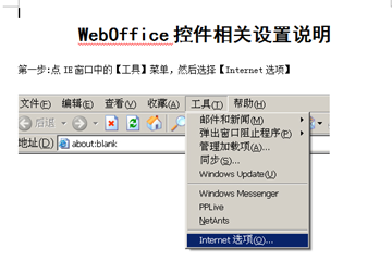 WebOffice控件相关设置说明
