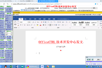 WebOffice示例:各项功能操作演示