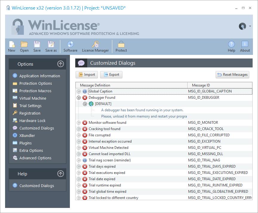 WinLicense预览:自定义对话框