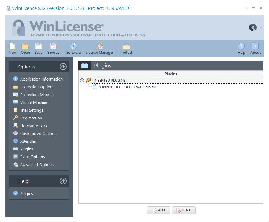 WinLicense预览:插件