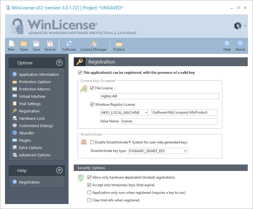 WinLicense预览:注册