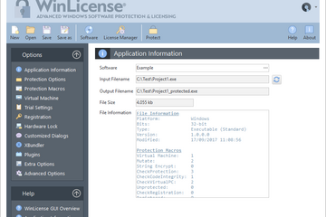 WinLicense预览:应用信息