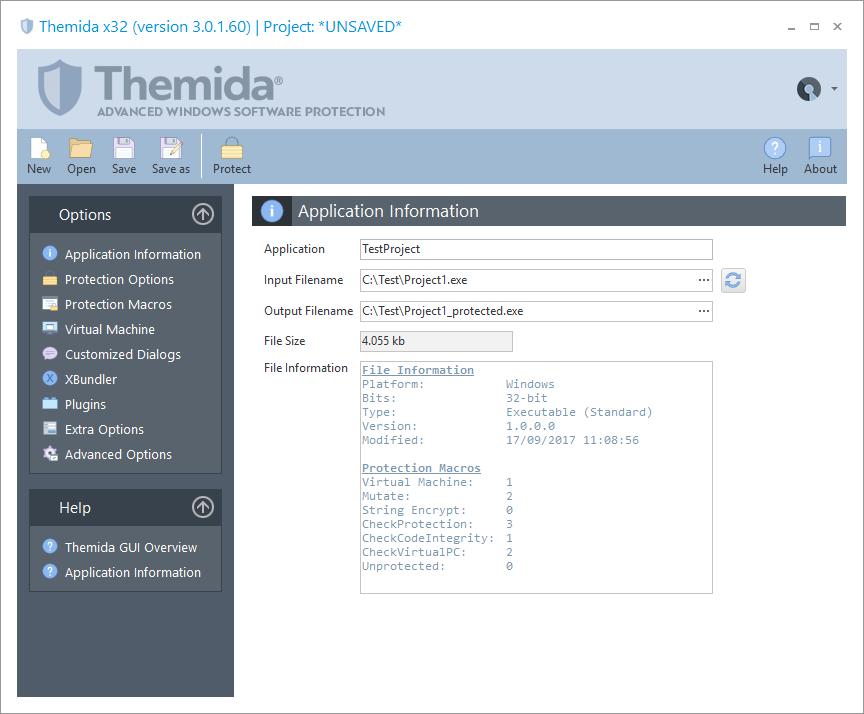 Themida预览:应用信息