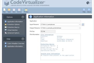 Code Virtualizer预览:应用信息