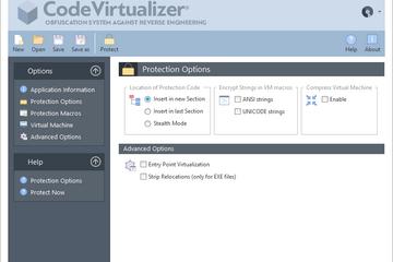 Code Virtualizer预览:保护选项