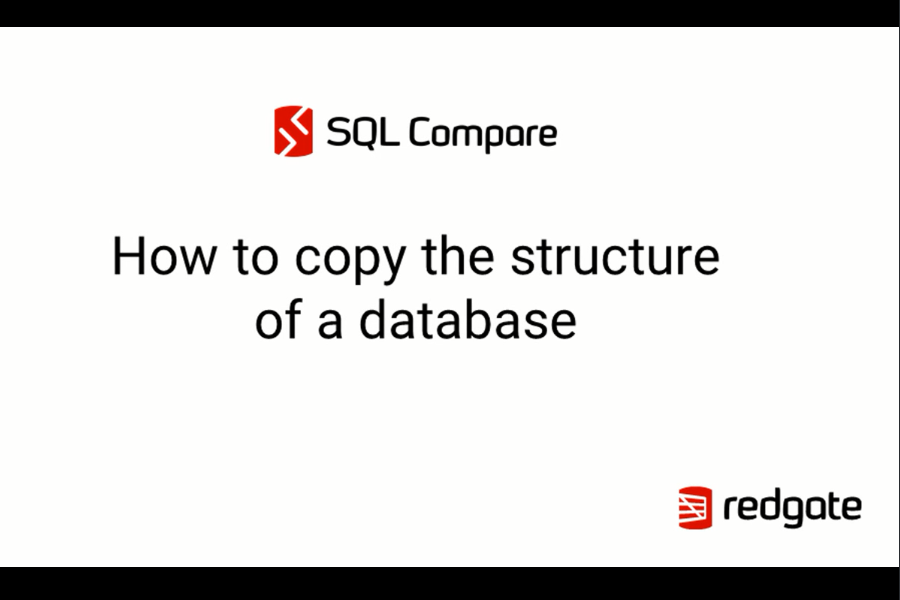 SQL Compare教程:如何复制数据库的结构