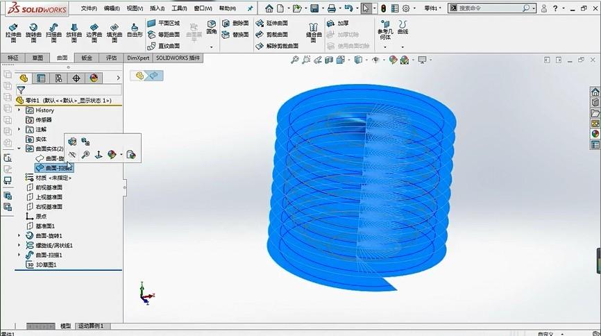 """如何用SolidWorks做一个""""完美""""的球形弹簧?"""