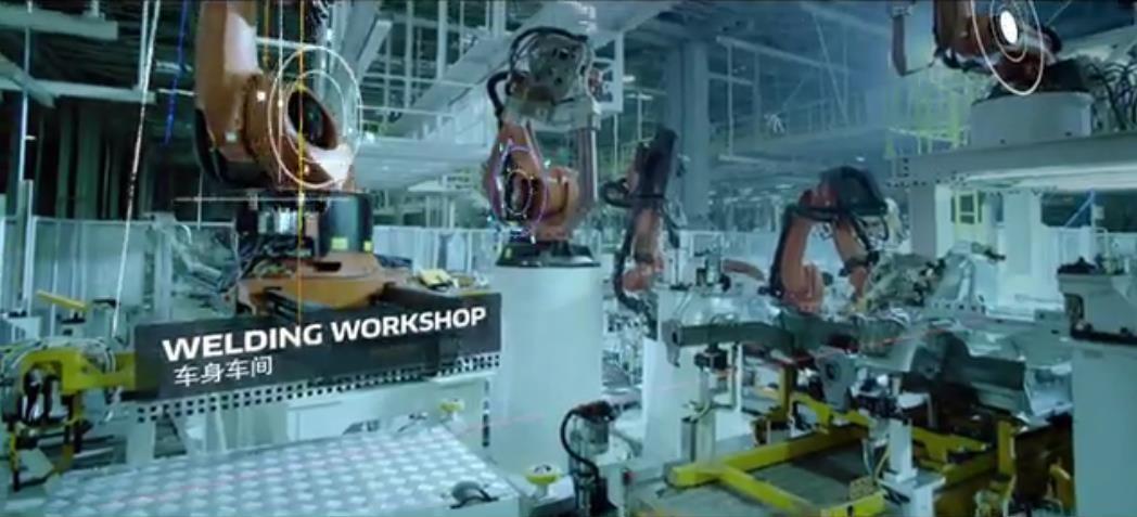 宝沃汽车智能工厂生产过程