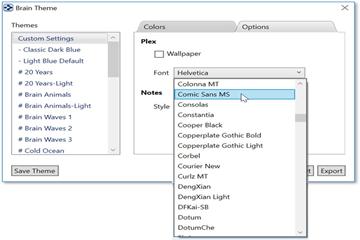 思维导图TheBrain基础实操教程——为Plex选择自定义图像并更改字体
