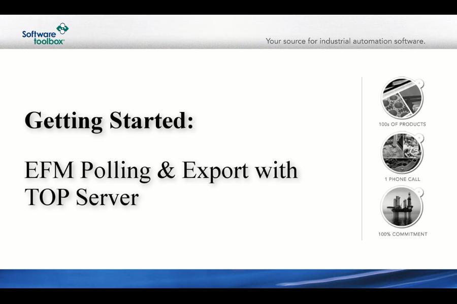 TOP Server视频教程:用于PGAS,Flow-Cal和通用CSV和数据库的EFM导出