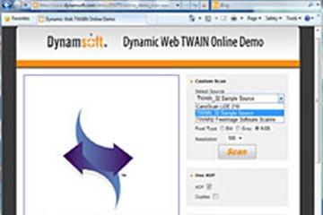 Dynamic Web TWAIN示例:条码读取器