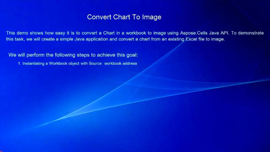 Aspose.Cells for Java视频教程:将Excel图表转换为图像